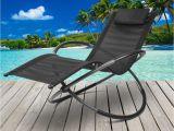 Sun Tanning Beach Chairs Zero Gravity Banana Sun Lounger Outdoor Beach Pool Rocking Chaise