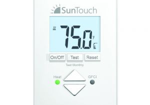 Sun touch Heated Floor Home Depot Suntouch Floor Warming Sunstat Core Non Programmable Floor Heating