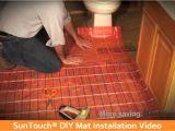Suntouch Heated Floor System Suntouch Diy Installation Video Home Depot Youtube