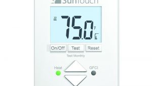 Suntouch Heated Floor thermostat Suntouch Floor Warming Sunstat Core Non Programmable Floor Heating