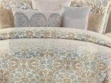 Tahari Home Bathroom Rugs Amazon Com Tahari Home Blue Beige Tan Queen Comforter Set 6 Pieces