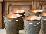 Tea Light Urns Metal Olive Bucket Candles these Have A Glass Sleeve so once the