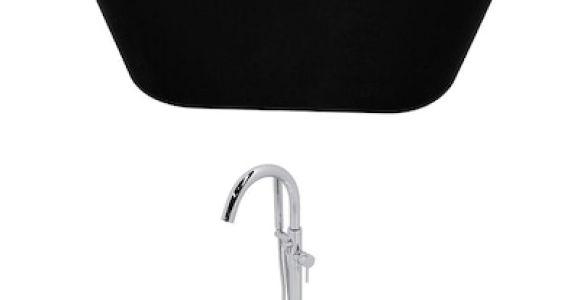 Terra 70 In. Center Drain Bathtub In White Anzzi Dualita Series 70 In White Acrylic Oval Center Drain