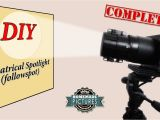 Theatre Spotlight Lamp 13 95 Euros Diy theatrical Spotlight Followspot Youtube