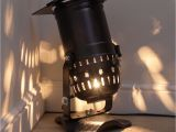 Theatre Spotlight Lamp Retro theatre Lamp On Base Long Spotlight Model Black Home Diy