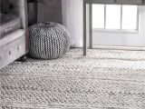 Thin area Rugs Rugs Usa Silver Mentone Reversible Striped Bands Indoor Outdoor Rug