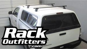 Thule Truck topper Rack Thule Podium Square Bar Roof Rack for Fiberglass Truck Cap Camper by