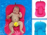 Toddler Bathtub for Shower 2 Colors Elastic Fabric Baby Bath Tub Air Cushion Lounger Pillow Pad