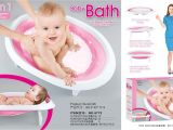 Toddler Bathtub for Shower 2 In 1 Foldable Newborn Baby Bathtub Baby Sitting Lying Shower Bath