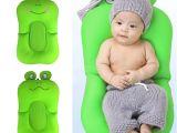 Toddler Bathtub for Shower Frog Shape Foldable Baby Bathtub Bathing Cushion Shower Newborn Baby