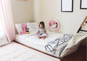 Toddler Beds that Sit On the Floor Montessori Floor Bed toddler Bed Big Kid Room Ideas Kids Decor