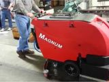 Tomcat Magnum Floor Scrubber Factory Cat S Magnum Walk Behind Floor Scrubber Youtube
