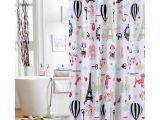Transparent Shower Curtain with Design Amazon Com Mainstays Kids I Love Paris Shower Curtain Polyester