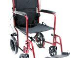 Transport Chair Walgreens Karman 19 Inch Aluminum Lightweight Transport Chair with Hand Brakes
