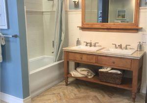 Travertine Design Ideas Bathroom Beautiful Neutral Bathroom with Wood and Travertine Tile Vanity