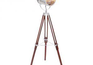 TriPod Spotlight Lamp Lumisource Wood Steel Ahoy Floor Lamp Wood Steel Floor Lamp and Steel