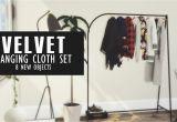 Tumblr Clothes Rack Ideas Velvet Hanging Cloths New Set