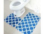 Types Of Bathtub Mats Free Shipping 2pcs Blue toilet U Type Mat Bathroom Bath