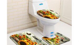 Types Of Bathtub Mats Free Shipping 3pcs Sun Flowers Banyo Bathroom Carpet