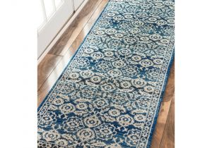 Typical Rug Runner Sizes Nuloom Traditional Persian Vintage Dark Blue Runner Rug 2 8 X 8