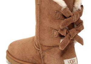 Uggs nordstrom Rack Ugg Australia Baily Bow Corduroy Genuine Shearling Fur Boot