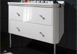 Uk Bathrooms Vanity Units Crosswater Bauhaus Waldorf 1000mm White Gloss Two Drawer