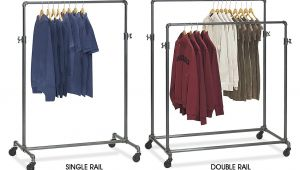 Uline Double Rail Clothes Rack Industrial Clothing Racks Pipe Clothing Racks In Stock Uline