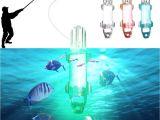 Underwater Lights for Fishing Mini Led Deep Drop Underwater Fishing Squid Fish Lure Light Flashing