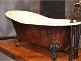"""Used Antique Bathtubs for Sale 61"""" Cast Iron Slipper Tub W Ball & Claw Feet"""