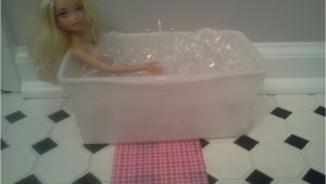 Used Baby Bathtub Barbie Bath Tub I Used Huggies Baby Wipe Container