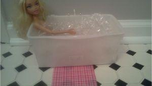 Used Baby Bathtub Barbie Bath Tub I Used Huggies Baby Wipe Container