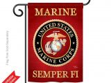 Usmc Garden Flag Amazon Com Breeze Decor Marine Corps Americana Everyday