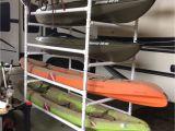 Vertical Rv Kayak Racks Homemade Pvc Kayak Rack Can Store 4 Kayaks Paddles Kayak Car Rack