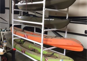 Vertical Rv Kayak Racks Homemade Pvc Kayak Rack Can Store 4 Kayaks Paddles Kayak Car Rack