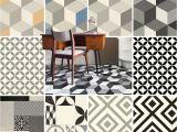 Vintage asphalt Floor Tile Pattern Vinyl Flooring Modern Cubes Retro Tiles Kitchen Bathroom