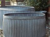 Vintage Baby Bathtub Planter Medium Vintage Style Galvanised Oval Dolly Planter Tub