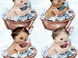 Vintage Baby Bathtub Vintage Washtub Baby Girl & Boy Bath Tub 2 Skin tones