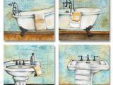 Vintage Bathtub Art Print New Set Of 4 Vintage Bathroom Bath Tub Sink Wall Decor