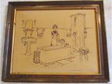 Vintage Bathtub Art Print Set Of 3 Vintage Kohler original Bath Pen and Ink Prints
