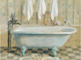 Vintage Bathtub Art Print Victorian Bath Iv Art Print by Danhui Nai at Art