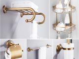 Vintage Bathtub Hardware solid 6 Piece Antique Brass Bathroom Hardware Sets