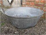 Vintage Bathtub Planter Old Vintage Galvanised Metal Bath Tub Garden Planter £39
