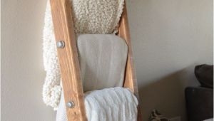 Vintage Wooden Blanket Rack Diy Wood and Metal Pipe Blanket Ladder Pinterest Blanket Ladder