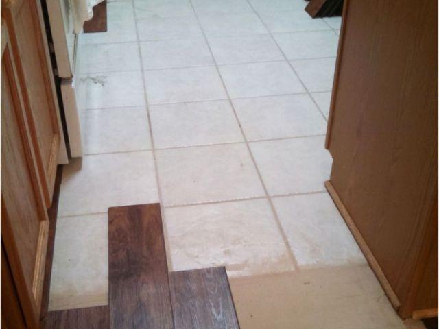 Vinyl Plank Flooring Installation Over Tile Installing Laminate Wood