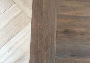 Vinyl Plank Flooring On Shower Walls Floor Transition Laminate to Herringbone Tile Pattern Model