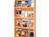 Wall Mounted Brochure Rack Canada 24 Pocket Magazine Brochure Wall Rack Hayneedle