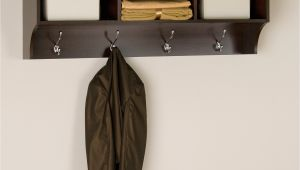 Wall Mounted Coat Rack with Hooks Entryway Shelf with Hooks Cole Papers Design