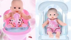 Walmart Baby Doll Bathtub Vinyl Mini Simulation Emoji Doll Cradle Bath Baby Doll