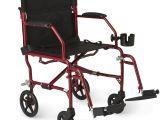 Walmart Transport Wheelchairs Medline Ultralight Transport Wheelchair with 19 X 16 Seat Red