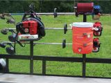 Weedeater Rack for Trailer All In One Open Rack Trimmer Rack Back Pack Blower Trim Line and